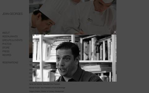 Screenshot of Team Page jean-georges.com - Team | Jean-Georges Restaurants - captured Nov. 18, 2016