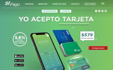 Screenshot of Home Page senorpago.com - Sr. Pago | La manera más fácil de cobrar – Sr. Pago te permite cobrar con tarjetas de crédito o débito en tu negocio de forma fácil y segura. - captured Sept. 26, 2018