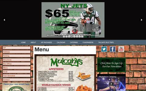 Screenshot of Menu Page muls.com - Menu - captured Nov. 30, 2016