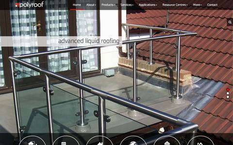 Screenshot of Home Page polyroof.co.uk - Advanced Liquid Applied Flat Roofing Systems | Flat Roof Materials - captured Jan. 29, 2016