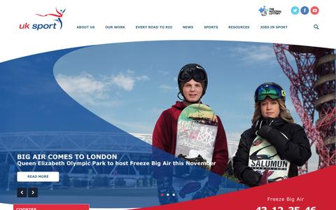 Screenshot of Home Page uksport.gov.uk - UK Sport   UK Sport - captured Oct. 1, 2015