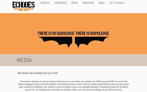 Screenshot of Press Page echodes.nl - Echodes Nijmegen » Media - captured July 11, 2016