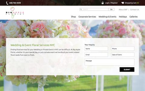 NYC Wedding Flowers | Big Apple Florist
