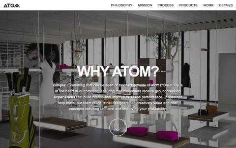 Screenshot of Home Page atom-retail.com - ATOM-RETAIL   Retail creation - captured Aug. 2, 2015