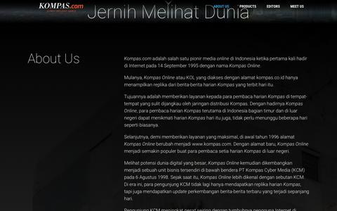 Screenshot of About Page Contact Page kompas.com - About Us - Kompas.com - captured Feb. 24, 2018