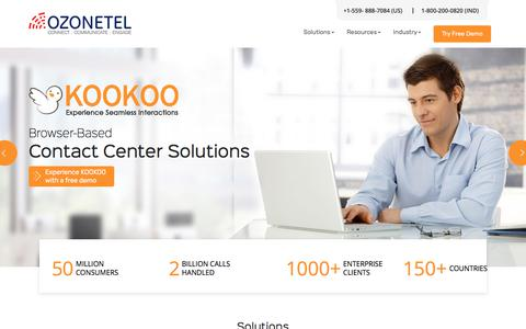 Cloud Telephony Solution,Call Center Software Solution,IVR-Ozonetel