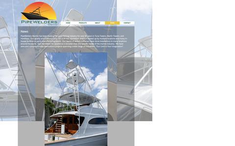 Screenshot of Press Page pipewelders.com - Pipewelders Marine   NEWS - captured Nov. 7, 2016