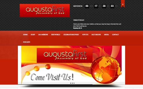Screenshot of Blog augustafirst.org - Missions Blog Archives - Augustafirst - captured Oct. 4, 2014