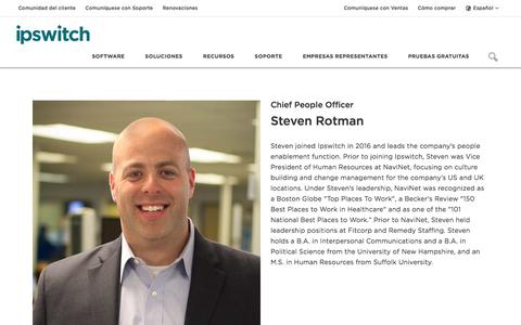 Screenshot of Team Page ipswitch.com - Steven Rotman - Our Team - About Ipswitch - Ipswitch - captured Jan. 14, 2018