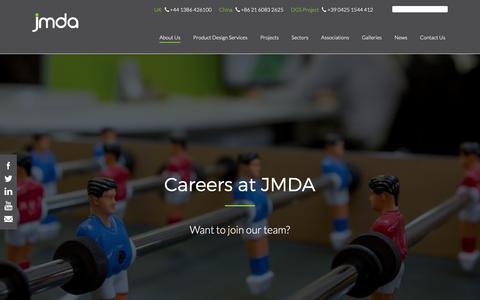 Screenshot of Jobs Page jmdadesign.com - Careers - JMDA Design - captured Dec. 17, 2018