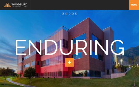 Screenshot of Home Page woodburycorp.com - Woodbury Corporation - captured Oct. 6, 2014