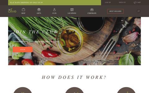 Screenshot of Signup Page weolive.com - Olive Oil Club - captured Oct. 22, 2018