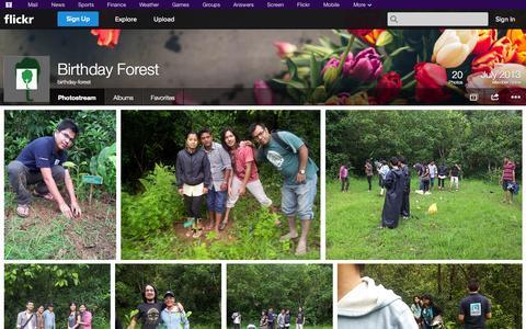 Screenshot of Flickr Page flickr.com - Flickr: birthday-forest's Photostream - captured Oct. 23, 2014