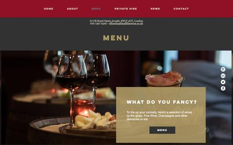 Screenshot of Menu Page pallmallfinewine.co.uk - Menu - Pall Mall Fine Wine - captured Oct. 19, 2016