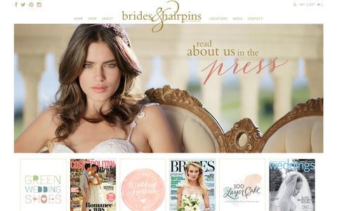 Screenshot of Press Page bridesandhairpins.com - Press � Brides and Hairpins LLC, Bridal Hair Accessories and Headpieces - captured Jan. 7, 2016