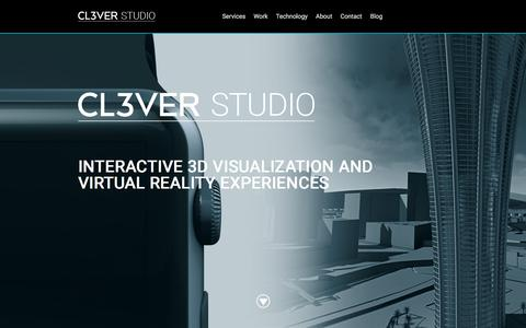 Screenshot of Services Page cl3ver.com - CL3VER Studio - Interactive 3D Visualization Services - captured Feb. 18, 2016