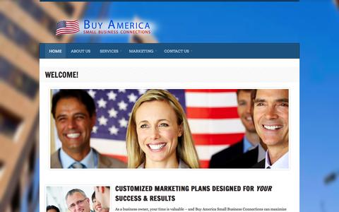 Screenshot of Home Page buyamericasmallbusinessconnections.com - Welcome! | Buy America Small Business ConnectionsBuy America Small Business Connections - captured Sept. 30, 2014