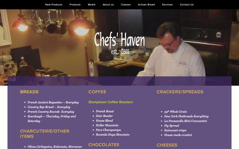 Screenshot of Products Page chefshavende.com - Products — Chefs' Haven - captured Sept. 27, 2018