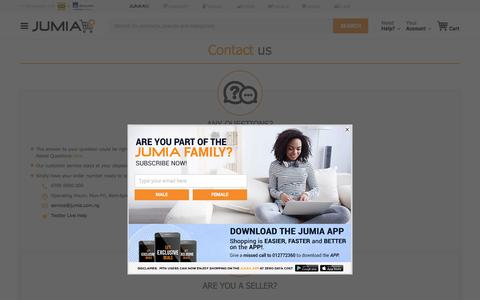 Screenshot of Contact Page jumia.com.ng - Contact us | Secure online shopping with Jumia - captured May 9, 2017