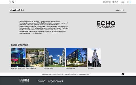 Screenshot of Developers Page q22.com.pl - Q22 - Echo Investment - captured Sept. 7, 2016