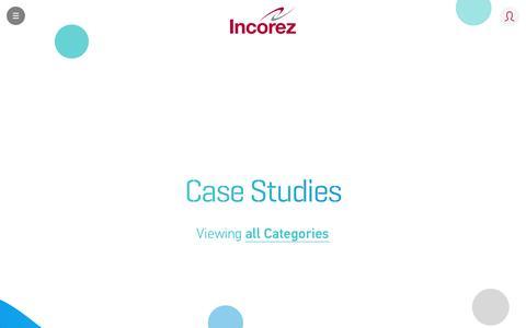 Screenshot of Case Studies Page incorez.com - Case Studies | Incorez | Oxazolidine, Waterborne Epoxy, Waterborne Polyurethane, Polyurethane - captured Nov. 26, 2016
