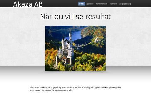 Screenshot of Home Page akaza.se - Start - Akaza AB - captured Oct. 4, 2014