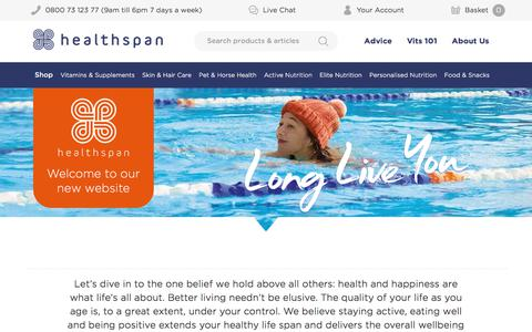 Healthspan The UK's leading direct supplements supplier