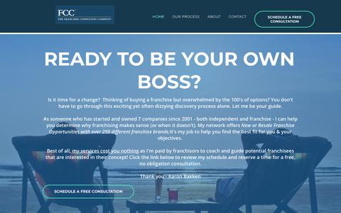 Screenshot of Home Page aaronbakken.com - Start Your Own Franchise | Franchise Consultant - Aaron Bakken - captured Oct. 5, 2018
