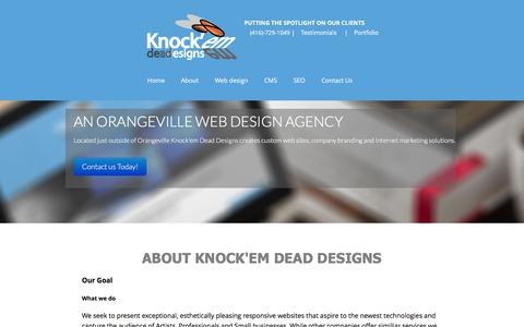 Screenshot of About Page knockemdeaddesigns.com - About Knock'em Dead Designs and what we do Web Design, Branding and SEO - captured Jan. 9, 2016