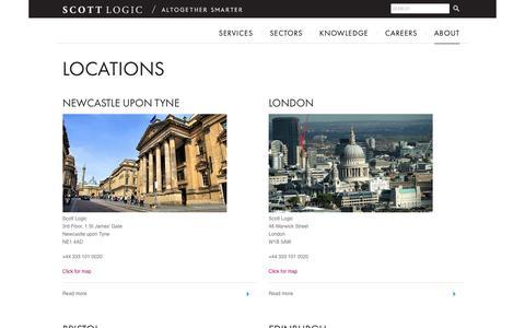 Screenshot of Locations Page scottlogic.com - Locations | Scott Logic - captured April 19, 2017