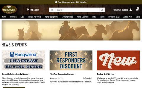 Screenshot of Press Page murdochs.com - News and Events   Murdoch's - captured Sept. 22, 2018