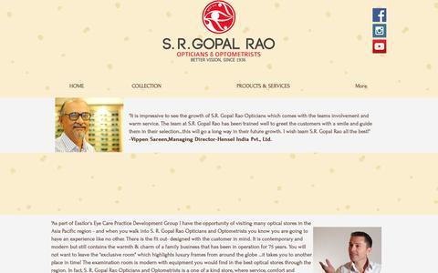 Screenshot of Testimonials Page srgopalrao.co - Customer Feedback,Testimonials,Best Opticians - captured May 5, 2017