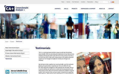Screenshot of Testimonials Page concessionaireanalyzer.com - Testimonials - Concessionaire Analyzer+ - captured Dec. 10, 2015