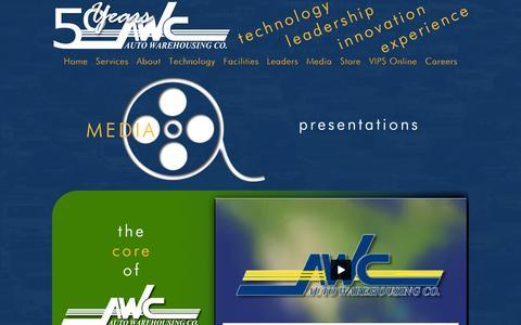 Screenshot of Press Page autowc.com - Media - captured Oct. 4, 2014
