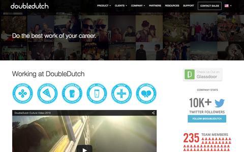 Screenshot of Jobs Page doubledutch.me - Jobs - DoubleDutch - captured Oct. 26, 2015