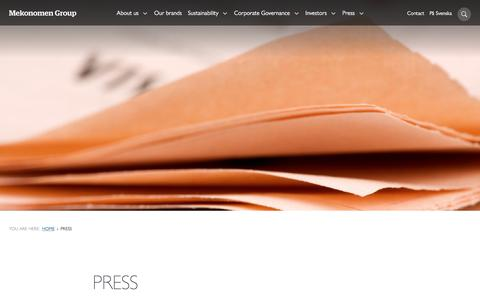 Screenshot of Press Page mekonomen.com - Press - Mekonomen - captured Oct. 18, 2017