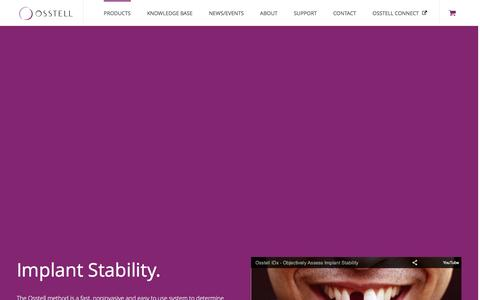Screenshot of Products Page osstell.com - Products - Osstell � Implant Stability. - captured Jan. 11, 2016