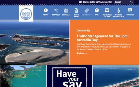 Screenshot of Blog gcwa.qld.gov.au - Community | Gold Coast Waterways Authority - captured Jan. 31, 2016