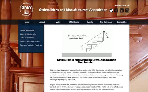 Screenshot of Signup Page stairways.org - SMA - Join - captured Oct. 24, 2017