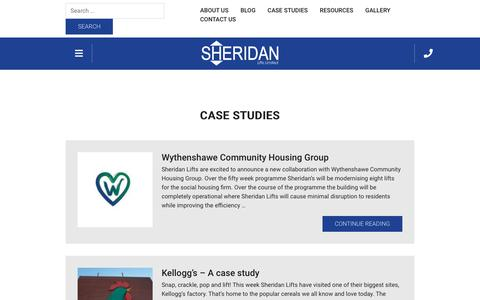 Screenshot of Case Studies Page sheridanlifts.com - Case Studies Archives - Sheridan Lifts - captured Oct. 20, 2018