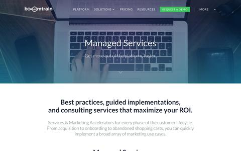 Screenshot of Services Page boomtrain.com - Managed Services - Boomtrain - captured Feb. 3, 2017