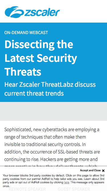 Dissecting the Latest Security Threats   Zscaler