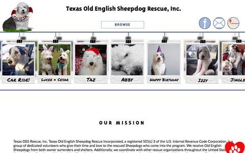 Screenshot of FAQ Page texasoesrescue.org - FAQs - captured Dec. 30, 2016