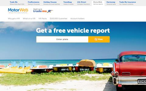 Screenshot of Home Page motorweb.co.nz - Free Basic Vehicle Facts | MotorWeb™ - captured Oct. 1, 2015