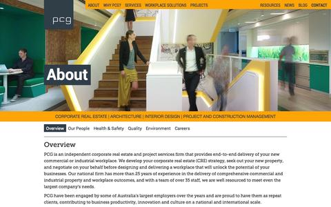 Screenshot of About Page pcg.com.au - PCG | About - captured Oct. 3, 2014