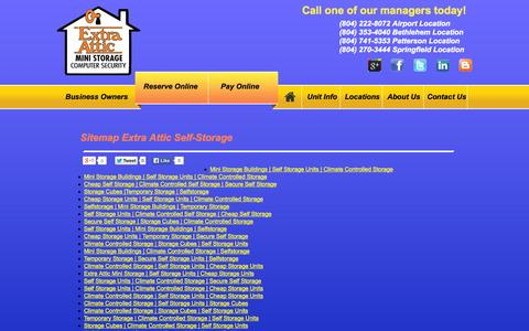 Screenshot of Site Map Page extraattic.net - Sitemap for Richmond VA Public Storage | ExtraAttic.net - captured Oct. 1, 2014