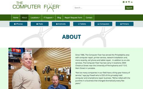 Screenshot of About Page thecomputerfixer.com - About - The Computer Fixer - captured Sept. 21, 2018