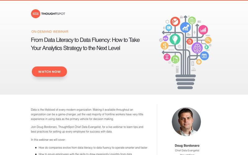 From Data Literacy to Data Fluency: How to Take Your Analytics Strategy to the Next Level | ThoughtSpot