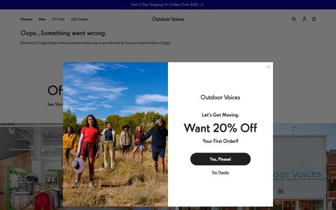 Screenshot of Home Page outdoorvoices.com - Outdoor Voices — Technical Apparel for Recreation - captured Nov. 18, 2019
