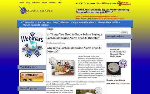 Screenshot of Blog qginc.com - Blogs | Quantum Group Inc. - captured Oct. 3, 2014